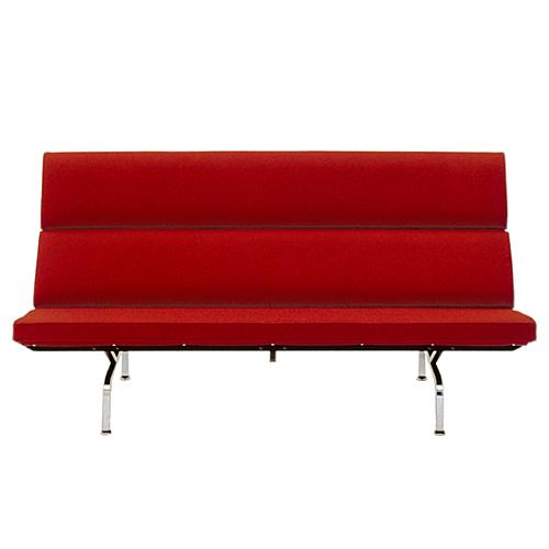 【ポイント5倍!】HermanMiller ハーマンミラー 「Eames Sofa Compact」 レッド【取寄品】
