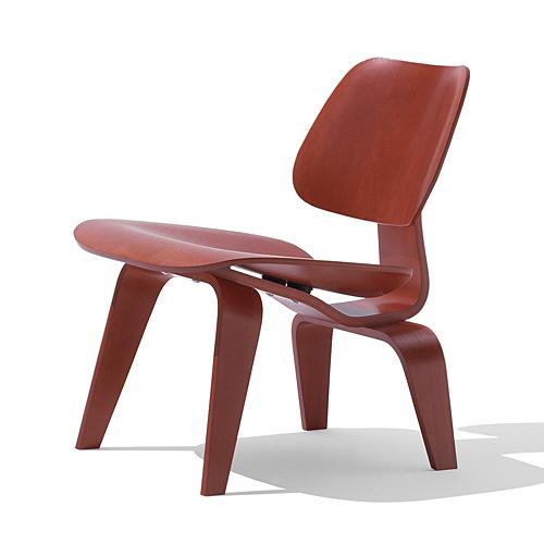 【ポイント5倍!】HermanMiller ハーマンミラー 「Eames Plywood Lounge Chair (LCW)」 レッド【取寄品】