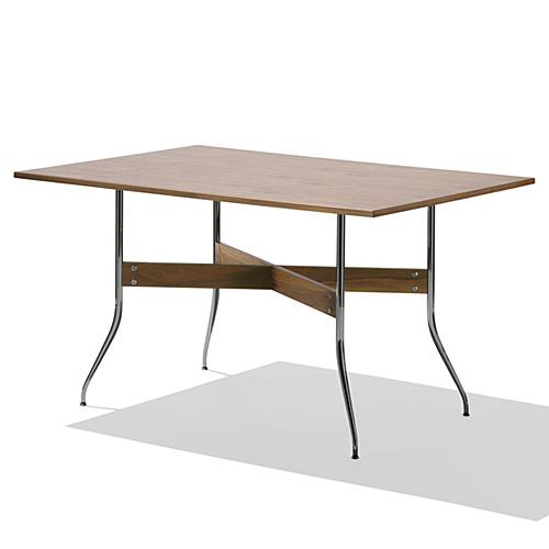【お買い物マラソンで最大ポイント21倍!8/9(木)1:59まで】HermanMiller ハーマンミラー 「Nelson Swag Leg Group Dining Table」 長方型/ウォールナットトップ【取寄品】