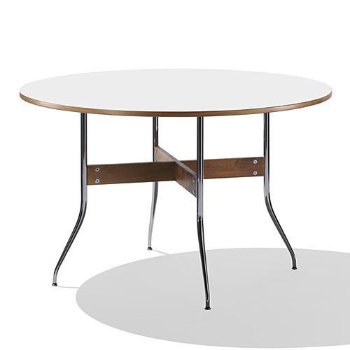【ポイント5倍!】HermanMiller ハーマンミラー 「Nelson Swag Leg Group Dining Table」 丸型/ホワイトラミネートトップ【取寄品】