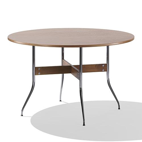 【ポイント5倍!】HermanMiller(ハーマンミラー)「Nelson Swag Leg Group Dining Table」 丸型/ウォールナットトップ