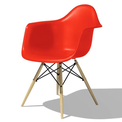【ポイント5倍!】HermanMiller ハーマンミラー 「Eames Shell Chair / Armchair(DAW)」レッド【取寄品】
