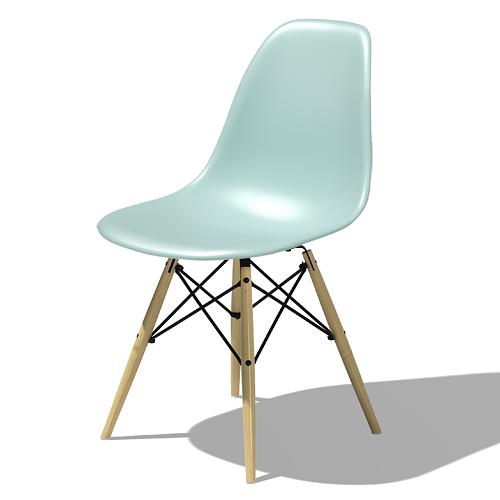 【ポイント5倍!】HermanMiller ハーマンミラー 「Eames Shell Chair / Side Chair(DSW)」アクアスカイ【取寄品】