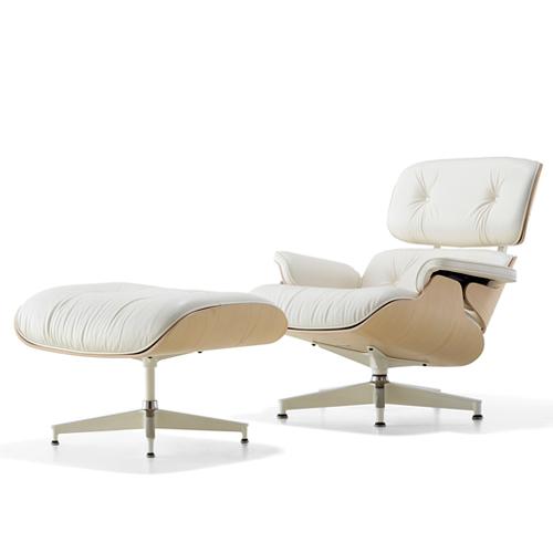 【お買い物マラソン開催中!最大2000円OFFクーポン!ポイント最大17倍|7/11 01:59まで】HermanMiller(ハーマンミラー)「Eames Lounge Chair & Ottoman」ホワイトアッシュ