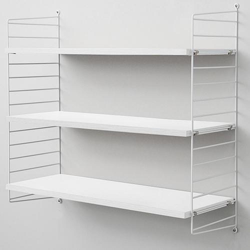 string (ストリング) 壁掛け収納 「system BASIC 78×30」ホワイト×ホワイトフレーム