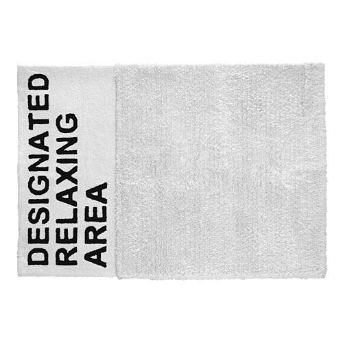 【限定クーポン!最大1000円OFF】AIRCONDITIONED(エアコンディションド)「DESIGNATED RELAXING AREA RUG(デジグネイテッドリラクシング エリア・ラグ)」 ホワイト