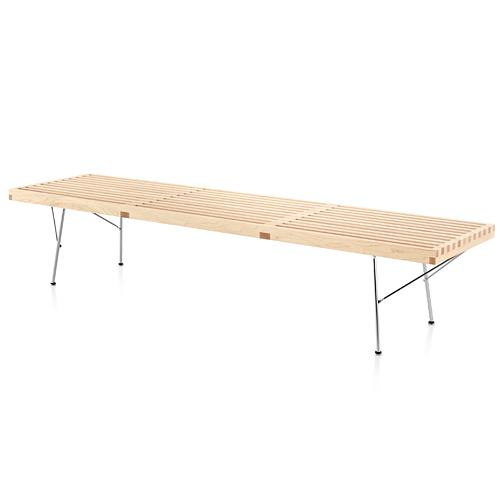 【ポイント5倍!】HermanMiller ハーマンミラー 「Nelson Platform Bench(プラットフォーム ベンチ)1830mm」メープル/メタルベース【取寄品】