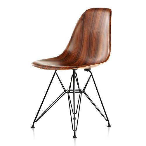 【お買い物マラソンで最大ポイント26倍!8/4(土)20時~】HermanMiller ハーマンミラー 「Eames Wood Chair」ワイヤーベース/ブラック/サントスパリサンダー【取寄品】