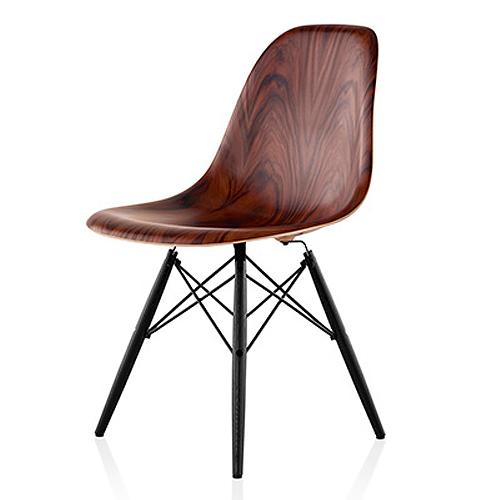 【お買い物マラソンで最大ポイント25倍!8/4(土)20時~】HermanMiller ハーマンミラー 「Eames Wood Chair」ダウェルベース/サントスパリサンダー【取寄品】