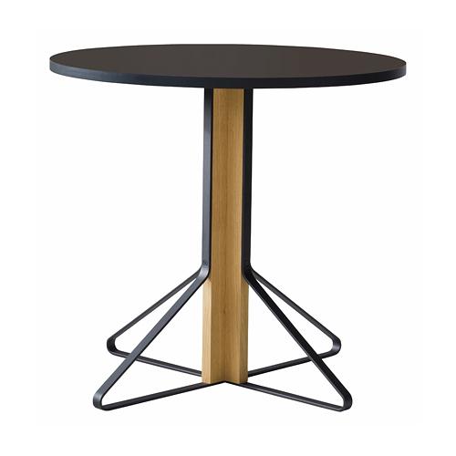 artek(アルテック)「KAARI TABLE(カアリ・テーブル)」φ80cm ナチュラルオーク/ブラックリノリウム