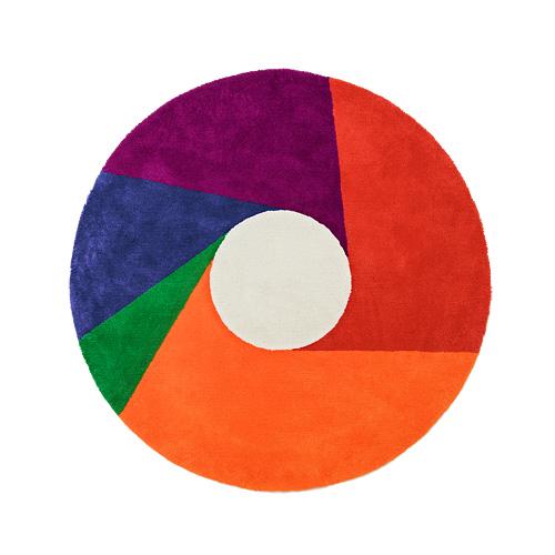 【最大1000円OFFクーポン|マラソン最大33倍 04/16(火) 01:59まで】METROCS(メトロクス)「マックス・ビル ラグ color wheel(カラーホイール)」1600