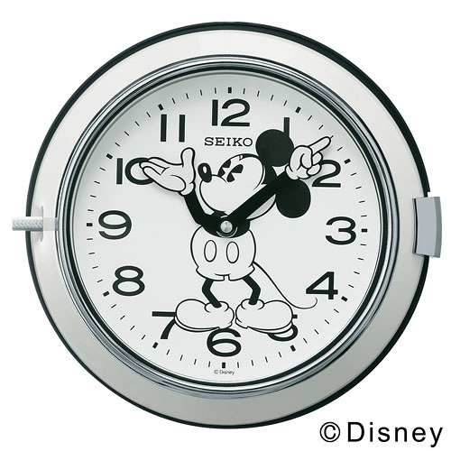 SEIKO (セイコー)「Mickey Wall Clock FS504L」 φ232mm / ホワイト