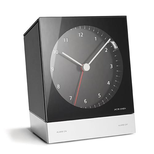 【最大1000円OFFクーポン|マラソン最大33倍 04/16(火) 01:59まで】JACOB JENSEN (ヤコブ・イェンセン) 「Desk Alarm Clock (デスクアラームクロック)」 ブラック