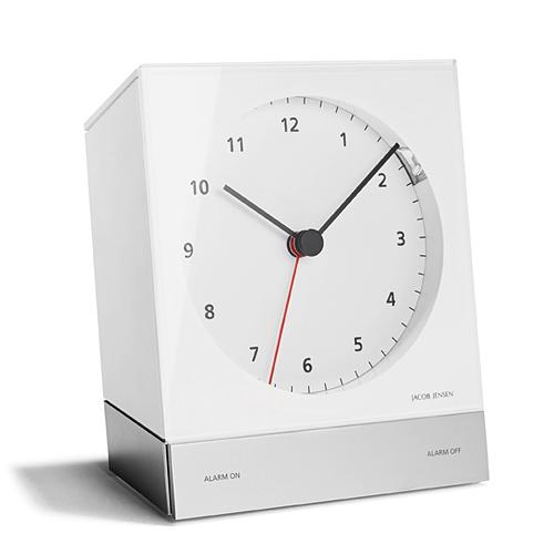 【最大1000円OFFクーポン|マラソン最大33倍 04/16(火) 01:59まで】JACOB JENSEN (ヤコブ・イェンセン) 「Desk Alarm Clock (デスクアラームクロック)」 ホワイト