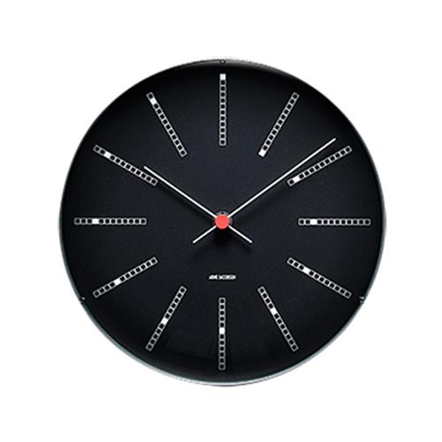 【最大1000円OFFクーポン|マラソン最大33倍 04/16(火) 01:59まで】ROSENDAHL (ローゼンダール) 掛時計 「Bankers (バンカーズクロック) 」 BLACK 210mm