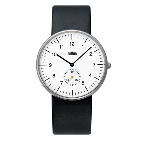 BRAUN(ブラウン) 「Watch BN0024」ブラックレザー / ホワイト