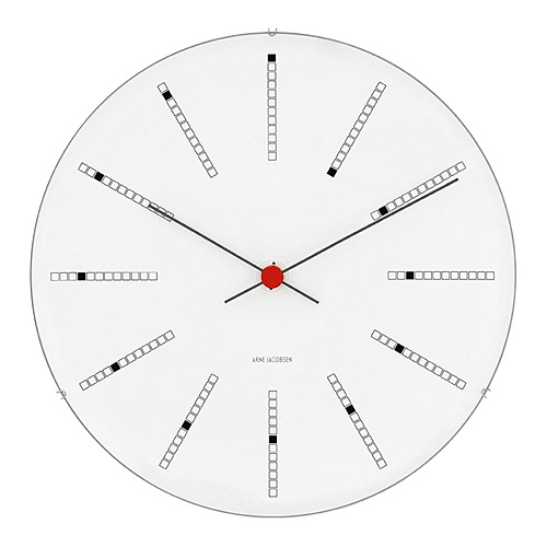 【限定クーポン!最大1000円OFF】【ポイント10倍!】ARNE JACOBSEN(アルネヤコブセン)掛時計 Bankers(バンカーズクロック) 290mm ホワイト
