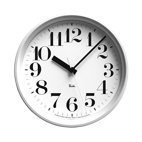 【ポイント10倍!】Lemnos(レムノス)「Riki Steel Clock」 電波時計/ホワイト