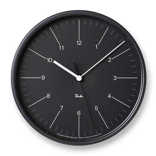 【お買い物マラソン開催中!最大1000円OFFクーポン!ポイント最大34倍|4/28 01:59まで】Lemnos(レムノス)「Riki Steel Clock」 時計/ブラック