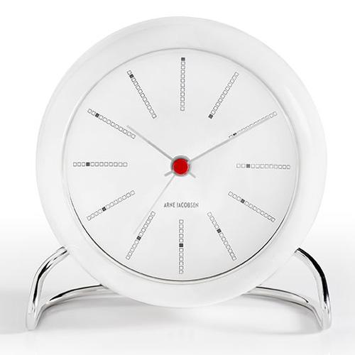 【ポイント10倍!】ARNE JACOBSEN(アルネヤコブセン)置時計 BANKERS (バンカーズ) 110mm ホワイト