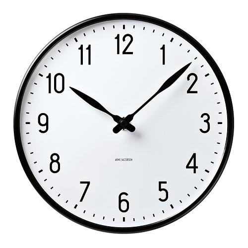【限定クーポン!最大1000円OFF】【ポイント10倍!】ARNE JACOBSEN(アルネヤコブセン)掛時計 Station(ステーションクロック) 290mm ホワイト
