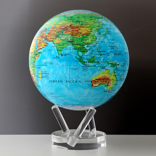 【最大1000円OFFクーポン|マラソン最大33倍 04/16(火) 01:59まで】MOVA Globe(ムーバ・グローブ)「Blue with Relief Map」8.5インチ 【取寄品】