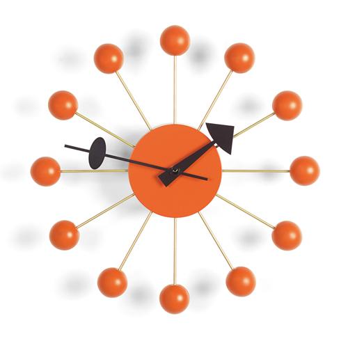 【最大1000円OFFクーポン|マラソン最大33倍 04/16(火) 01:59まで】Vitra(ヴィトラ)「Ball Clock (ボール クロック)」オレンジ