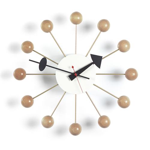 Vitra(ヴィトラ)「Ball Clock (ボール クロック)」ナチュラル