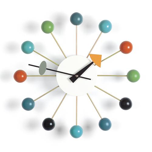 【お買い物マラソン開催中!最大1000円OFFクーポン!ポイント最大34倍 4/28 01:59まで】Vitra(ヴィトラ)「Ball Clock(ボール クロック)」マルチカラー