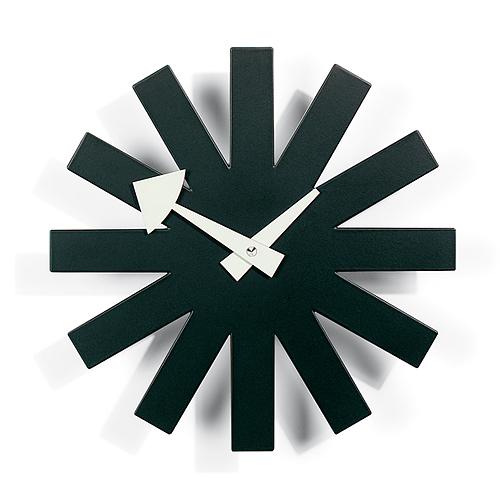 【最大1000円OFFクーポン|マラソン最大33倍 04/16(火) 01:59まで】Vitra(ヴィトラ)「Asterisk Clock (アスタリスク クロック)」ブラック
