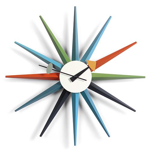 【お買い物マラソンで最大ポイント32倍!8/9(木)1:59まで】Vitra(ヴィトラ)「Sunburst Clock (サンバースト クロック)」マルチカラー