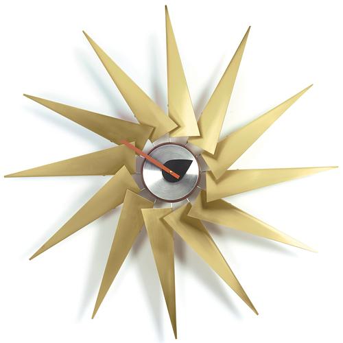 【お買い物マラソン開催中!最大1000円OFFクーポン!ポイント最大34倍|4/28 01:59まで】Vitra(ヴィトラ)「Turbine Clock(タービン クロック)」ブラス/アルミニウム