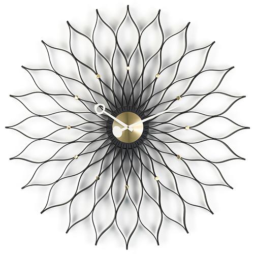【ポイント10倍!】Vitra(ヴィトラ)「Sunflower Clock(サンフラワー クロック)」ブラックアッシュ/ブラス
