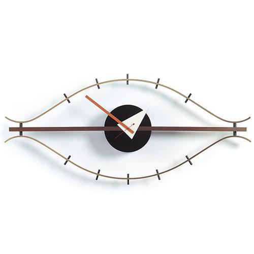 【限定クーポン!最大1000円OFF】【ポイント10倍!】Vitra(ヴィトラ)「Eye Clock(アイ クロック)」ブラス/ウォルナット