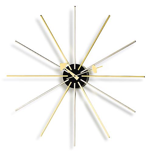 Vitra(ヴィトラ)「Star Clock(スター クロック)」クローム/ブラス
