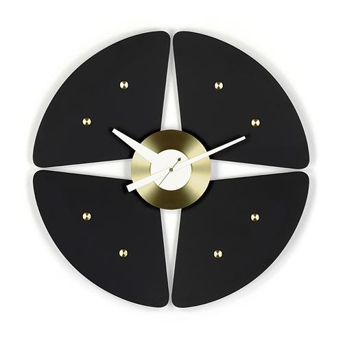 【最大1000円OFFクーポン マラソン最大33倍 04/16(火) 01:59まで】Vitra(ヴィトラ)「Petal Clock (ペタル クロック)」ブラック/ブラス