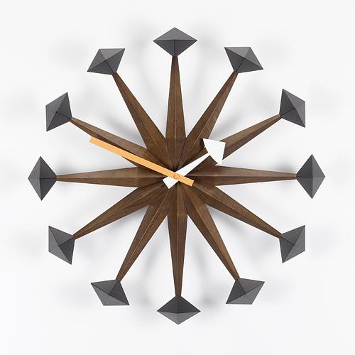 【最大1000円OFFクーポン|マラソン最大33倍 04/16(火) 01:59まで】Vitra(ヴィトラ)「Polygon Clock (ポリゴン クロック)」ウォルナット