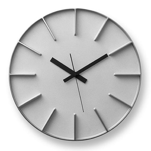 【最大1000円OFFクーポン|マラソン最大33倍 04/16(火) 01:59まで】Lemnos「edge clock」 φ350 アルミ【取寄品】
