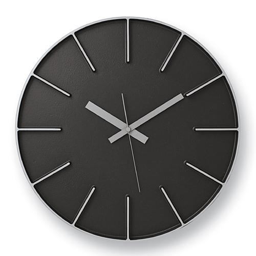 Lemnos「edge clock」 φ350 ブラック【取寄品】