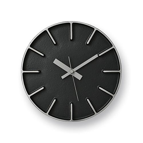 Lemnos「edge clock」 φ180 ブラック