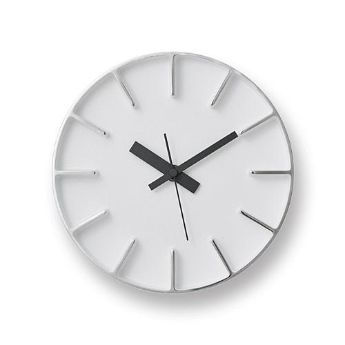 【最大1000円OFFクーポン|マラソン最大33倍 04/16(火) 01:59まで】Lemnos「edge clock」 φ180 ホワイト