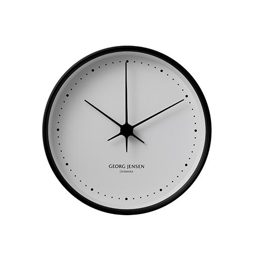 【ポイント10倍!】Georg Jensen(ジョージ ジェンセン)掛時計HK(エイチケー)ウォールクロック 22cmブラック