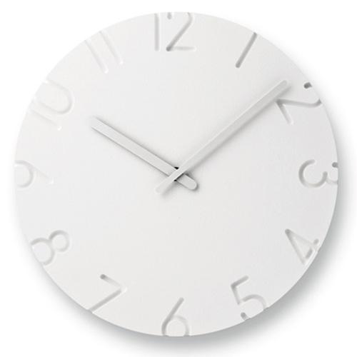 立体的に表現された文字盤が空間に調和する人気ウォールクロック ポイント10倍 Lemnos レムノス 掛時計 アラビア数字 Φ305mm 超人気 Arabic カーヴド CARVED 交換無料