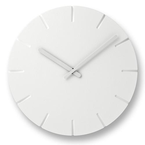 立体的に表現された文字盤が空間に調和する人気ウォールクロック ポイント10倍 Lemnos レムノス 割引 特別セール品 掛時計 ライン カーヴド CARVED Line Φ305mm
