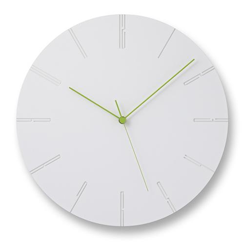 立体的文字盤が空間に調和 人気壁時計を精緻な技術でリアレンジ ポイント10倍 Lemnos 現品 レムノス CARVED カーヴド 物品 ホワイト 掛時計 ツー