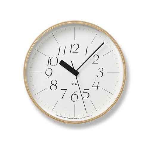 渡辺力による日本を代表するデザインクロックが電波時計に ポイント10倍 Lemnos レムノス 電波時計 RIKI CLOCK 細字 クロック リキ 未使用 メイルオーダー RC Φ254mm アールシー