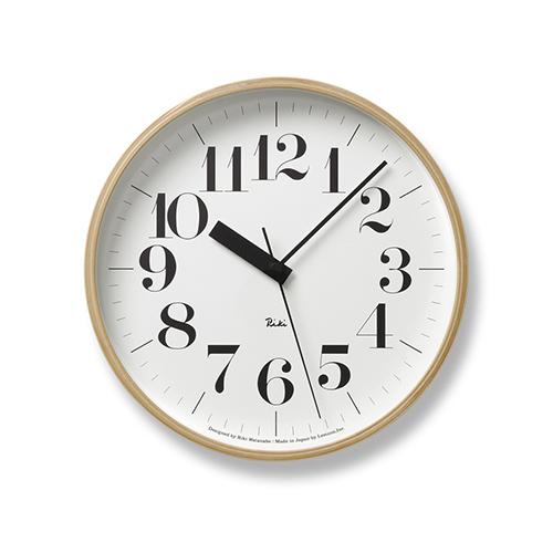 渡辺力による日本を代表するデザインクロックが電波時計に 買い取り 国内在庫 ポイント10倍 Lemnos レムノス 電波時計 RIKI CLOCK クロック 太字 Φ254mm アールシー リキ RC