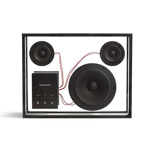 【即納】 TRANSPARENT スピーカー ブラック/レッド, アート倶楽部T&M ffa64bf5