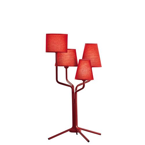 【500円OFFクーポンあり!】almerich(アルメリッチ) テーブル照明 TRIA TABLE レッド 受注品