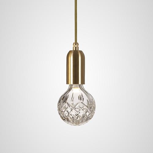 LEE BROOM(リー・ブルーム)ペンダント照明 CLEAR CRYSTAL BULB(クリスタル バルブ )PENDANT クリア/ブラス